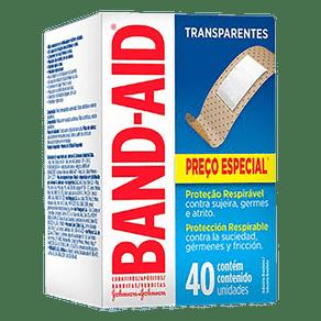 Curativo Transparente Band-Aid com 40 unidades