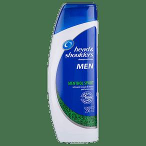 Shampoo Anticaspa Menthol Sport Head & Shoulders Men Frasco 200ml