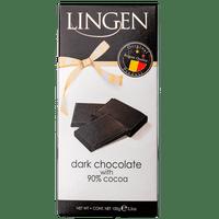CHOC-BELGA-LINGEN-100G-DARK-90PC